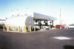 Above ground fueling systems placed anywhere your site allows.